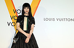 """April 21, 2016, Tokyo, Japan - Chinese actress Fan Bing Bing smiles during a photo call for the reception of Louis Vuitton's art exhibition in Tokyo on Thursday, April 21, 2016. French luxury barnd Luis Vuitton will hold the exhibition """"Volez, Voguez, Voyagez"""" in Tokyo from April 23 through June 19.  (Photo by Yoshio Tsunoda/AFLO) LWX -ytd-"""