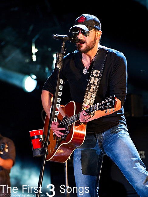 Eric Church performs at LP Field during Day 1 of the 2013 CMA Music Festival in Nashville, Tennessee.