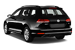 Car pictures of rear three quarter view of 2017 Volkswagen Golf-Variant Trend-Line 5 Door Wagon Angular Rear