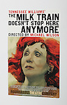 Billboard Poster for the After Party for the Off-Broadway Roundabout Theatre Company Production of  'The Milk Train Doesn't Stop Here Anymore' at the Laura Pels Theatre in New York City..
