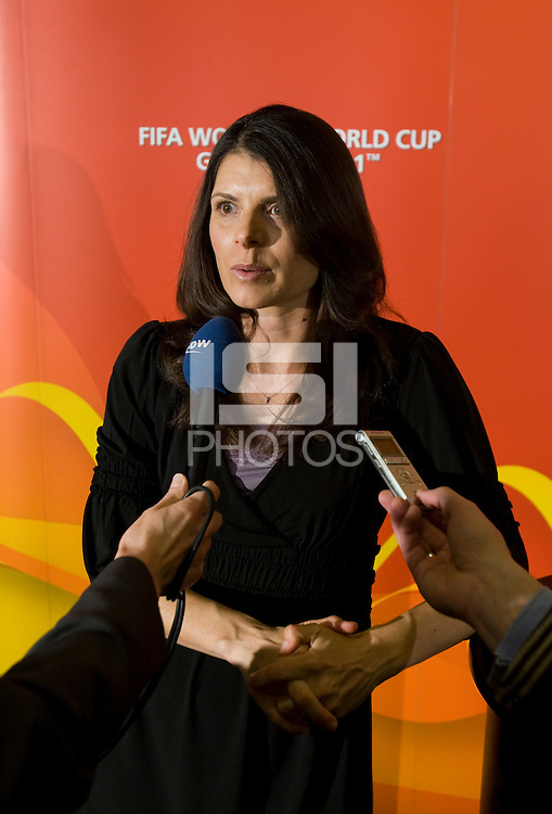Mia Hamm. Various speakers took the stage at the FIFA Women's World Cup 2011 promotional tour at the Westin Grand in Washington, DC...
