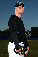 March 1, 2010:  Pitcher David Purcey (25) of the Toronto Blue Jays poses for a photo during media day at Englebert Complex in Dunedin, FL.  Photo By Mike Janes/Four Seam Images