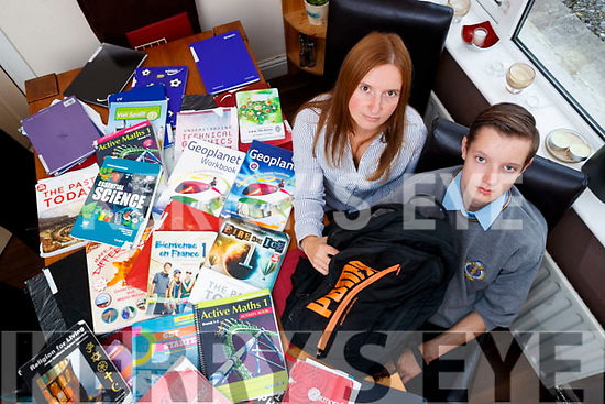 Magdalena and Patryk Graszk, from Laurel Court, Tralee who are unhappy about CBS charging €150 for rental of a locker.