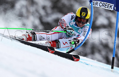 04.12.2011. Beaver Creek Colorado USA Ski Alpine FIS World Cup Giant slalom the men Picture shows Marcel Hirscher AUT