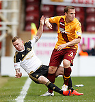 Johnny Hayes shoved off the ball by Stevie Hammell
