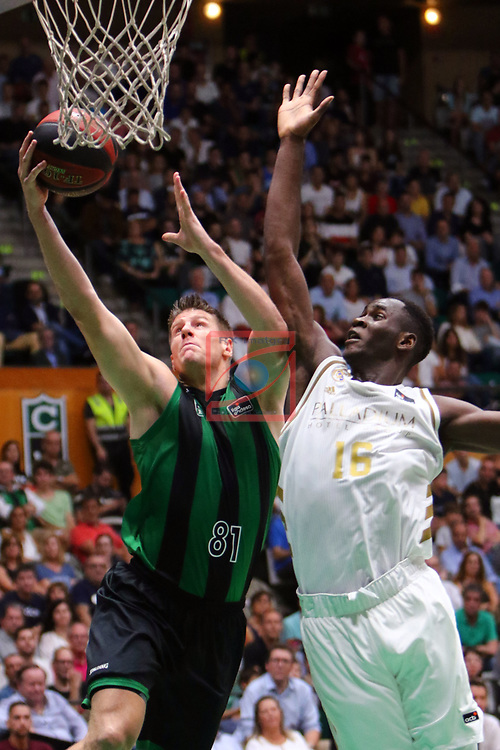 Liga ENDESA 2019/2020. Game: 01.<br /> Club Joventut Badalona vs Real Madrid: 69-88.<br /> Luke Harangody vs Usman Garuba.
