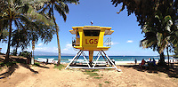 Life Guard Station at D.T. Fleming Beach Park, Kapalua, Maui, Hawaii, US