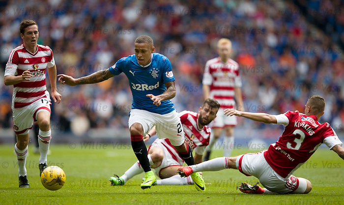 James Tavernier skips through the Hamilton defence