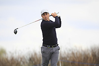 Nino Bertasio (ITA) on the 4th tee during Round 1 of the Open de Espana 2018 at Centro Nacional de Golf on Thursday 12th April 2018.<br /> Picture:  Thos Caffrey / www.golffile.ie<br /> <br /> All photo usage must carry mandatory copyright credit (&copy; Golffile | Thos Caffrey)