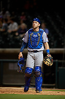 Tennessee Smokies catcher Ian Rice (5) during a game against the Birmingham Barons on August 16, 2018 at Regions FIeld in Birmingham, Alabama.  Tennessee defeated Birmingham 11-1.  (Mike Janes/Four Seam Images)