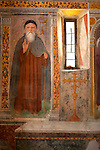 A fresco in the 16th century church, San Giacomo Vecchia, in the mountain town of Livo just above Gravedona on Lake Como, Italy