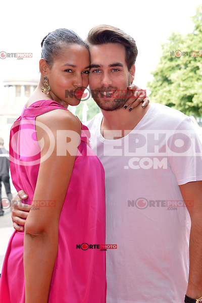 Cassandra Steen with friend Stefan attending the &quot;Schumacher&quot; fashion show during the Mercedes-Benz Fashion Week Berlin in Berlin 05.07.2012...Credit: Timm/face to face /MediaPunch Inc. ***FOR USA ONLY*** ***Online Only for USA Weekly Print Magazines*** *NORTEPHOTO*<br />
