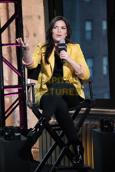 NEW YORK, NY -  FEBRUARY 24: America Ferrera talks about her film &igrave;X/Y&icirc; at AOL Build Speaker Series  on February 24, 2015 in New York City. <br /> CAP/MPI/DIE<br /> &copy;DIE/MPI/Capital Pictures