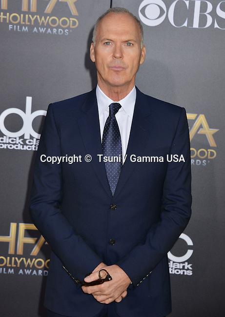 Michael Keaton  at the Hollywood Film Awards 2014 at the Palladium on Nov. 14, 2014 in Los Angeles.