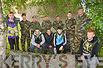Pictured at Ballymullen Barracks on Friday last as young people from Tralee Garda Projects who took part in a four week survival/outdoor education programme which will culminate in an overnight facilitated by the RDF were l-r: Ricky Roche, Eoin Quirke. Jordan Hallissey and Jonathan Reilly. Back l-r: Simon Lonergan, Sergeant David Locke, Brian Lucid, Company Sergeant John O'Connor, Lieutenant Sean Coffey, Lieutenant Damien Ginty and Lieutenant Aidan Leahy.