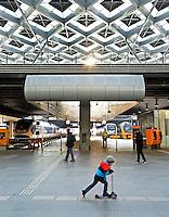 Nederland Den Haag  2016 02 13. De hal van het vernieuwde Centraal Station in Den Haag