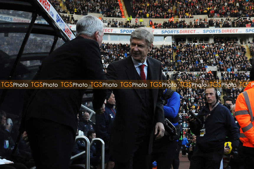 Newcastle United manager Alan Pardew shakes hands with Arsenal manager Arsène Wenger - Newcastle United vs Arsenal - Barclays Premier League Football at St James Park, Newcastle upon Tyne - 29/12/13 - MANDATORY CREDIT: Steven White/TGSPHOTO - Self billing applies where appropriate - 0845 094 6026 - contact@tgsphoto.co.uk - NO UNPAID USE