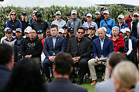 Wayne Shelford with Jon Podany, COO LPGA during the welcoming powhiri. McKayson NZ Women's Golf Open, first Practice Round, Windross Farm Golf Course, Manukau, Auckland, New Zealand, Monday 25 September 2017.  Photo: Simon Watts/www.bwmedia.co.nz