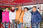 Spectators: Taking shelter from the rain in the service area at last Sundays Banna resort sponsored Winter mini stages rally were Killarney girls l-r: Lianne and Jessica O'Sullivan, Shelia O'Donoghue with Gaby and Kayna O'Sullivan.
