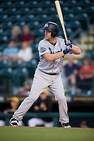 Tampa Tarpons designated hitter Adam Lind (23) at bat during a game against the Bradenton Marauders on April 25, 2018 at LECOM Park in Bradenton, Florida.  Tampa defeated Bradenton 7-3.  (Mike Janes/Four Seam Images)