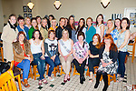 Elaine Mitchell, Currow seated centre who met in Ulick's bar, Farranfore before departing for Dingle to celebrate her hen party with her girlfriends on Saturday