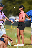 Charlotte Thomas (ENG) tosses a ball as she talks with fans near the tee on 10 before round 4 of the Volunteers of America Texas Classic, the Old American Golf Club, The Colony, Texas, USA. 10/6/2019.<br /> Picture: Golffile | Ken Murray<br /> <br /> <br /> All photo usage must carry mandatory copyright credit (© Golffile | Ken Murray)