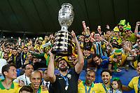 Rio de Janeiro (RJ), 07/07/2019 - Copa América / Final / Brasil x Peru -  Alisson do  Brasil comemora título da Copa América no Estádio do Maracanã no Rio de Janeiro neste domingo, 07. (Foto: Clever Felix/Brazil Photo Press)