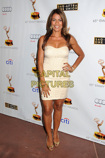 Lisa Vidal<br /> Academy of Television Arts &amp; Sciences' Dynamic and Diverse 2013 Emmy Nominee Reception, North Hollywood, California, USA.<br /> September 17th, 2013<br /> full length white dress strapless hand on hip <br /> CAP/ADM/BP<br /> &copy;Byron Purvis/AdMedia/Capital Pictures