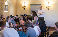 Occidental College incoming first-years participate in matriculation and meet Oxy President Jonathan Veitch during Orientation, August 26, 2014 at the Samuelson Alumni Center. (Photo by Marc Campos, Occidental College Photographer)