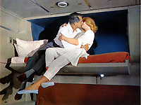 North by Northwest (1959) <br /> Cary Grant &amp; Eva Marie Saint<br /> *Filmstill - Editorial Use Only*<br /> CAP/KFS<br /> Image supplied by Capital Pictures