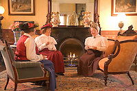 Victorian Ladies enjoying Afternoon Tea, Mainstay Inn, Victorian Mansion, Cape May, New Jersey