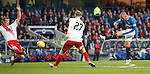 Kenny Miller fizzes a shot which is unlucky not to find the net