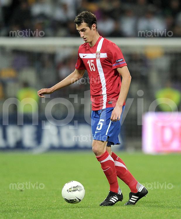 FUSSBALL INTERNATIONAL  Qualifikation Euro 2012  11.10.2011 Slowenien - Serbien Radoslav PETROVIC (Serbien)