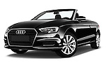 Stock pictures of low aggressive front three quarter view of 2017 Audi A3-Cabriolet Design 2 Door Convertible Low Aggressive