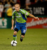 Freddie Ljungberg. The Seattle Sounders defeated DC United, 2-1, to win the 2009 Lamr Hunt U.S. Open Cup at RFK Stadium in Washington, DC.