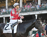 LOUISVILLE, KY - JUNE 17: McCraken wins the G3 Matt Winn for owner Whitham Thoroughbreds, trainer Ian Wilkes and jockey Brian Hernandez  June 17, 2017