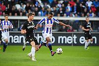 VOETBAL: HEERENVEEN: Abe Lenstra Stadion, SC Heerenveen - Vitesse, 21-01-2012, Jan-Arie van der Heijden (#4), Luciano Narsingh (#24), Eindstand 1-1, ©foto Martin de Jong