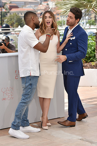 Usher, Ana de Armas, Edgar Ramirez<br /> Usher Raymond IV, Ana De Armas Edgar Ramirez<br /> 'Hands of Stone' photocall during the 69th International Cannes Film Festival, France May 16, 2016.<br /> CAP/PL<br /> &copy;Phil Loftus/Capital Pictures /MediaPunch ***NORTH AND SOUTH AMERICA ONLY***
