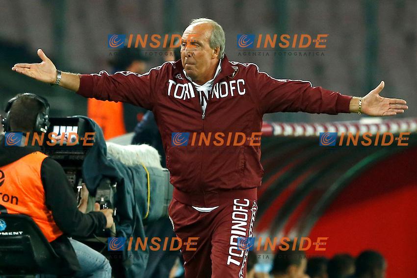 Gianpiero Ventura Torino,  <br /> Napoli 05-10-2014 Stadio San Paolo <br /> Football Calcio Serie A Napoli - Torino<br /> Foto Cesare Purini / Insidefoto