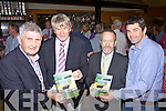 At the very successful book launch of 'Around Kells Bay' by Pat Lynch in Caiteen Baiters Pub in Kells on Saturday night last were l-r; Mick O'Dwyer, Pat Lynch(Author), Sean Kelly MEP & Martin Lynch.