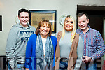 Gerard Pierce of Ballyduff, standing 4th from the left, celebrates his birthday with his family in Cassidy&rsquo;s Restaurant on Friday night last.<br /> Standing l-r, Vincent, Philomena, Tara and Gerard Pierce.
