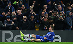 Chelsea's Mason Mount celebrates after he scores to make it 2-1 during the Premier League match at Stamford Bridge, London. Picture date: 4th December 2019. Picture credit should read: Paul Terry/Sportimage
