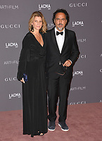 Alejandro Gonzalez Inarritu &amp; Maria Eladia Hagerman at the 2017 LACMA Art+Film Gala at the Los Angeles County Museum of Art, Los Angeles, USA 04 Nov. 2017<br /> Picture: Paul Smith/Featureflash/SilverHub 0208 004 5359 sales@silverhubmedia.com