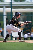 Pittsburgh Pirates Garrett Brown (10) during an Instructional League Intrasquad Black & Gold game on September 28, 2016 at Pirate City in Bradenton, Florida.  (Mike Janes/Four Seam Images)