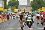 Thomas Voeckler (FRA) Direct Energie retires from cycling at the end of Stage 21 of the 104th edition of the Tour de France 2017, an individual time trial running 1.3km from Montgeron to Paris Champs-Elysees, France. 23rd July 2017.<br /> Picture: ASO/Bruno Bade | Cyclefile<br /> <br /> <br /> All photos usage must carry mandatory copyright credit (&copy; Cyclefile | ASO/Bruno Bade)