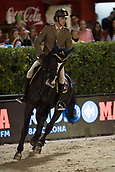29th September 2017, Real Club de Polo de Barcelona, Barcelona, Spain; Longines FEI Nations Cup, Jumping Final; ZORZI Alberto (ITA)  riding Ego van Orti during the final of the Nations Cup