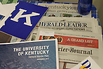 Contents that will be added to the time capsule include copies of the April 28, 2014, Kentucky Kernel, Lexington Herald-Leader and Courier-Journal; a copy of the University of Kentucky master plan; and a copy of the K Book given to incoming freshmen. The contents of the time capsule from 1956 will also be reburied in between the new dorms Woodland Glen I & II, currently under construction in Lexington, Ky., on Monday, April 28, 2014.