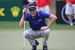 Martin Kaymer lines up his putt on the 13th green during Day 2 Friday of the Abu Dhabi HSBC Golf Championship, 21st January 2011..(Picture Eoin Clarke/www.golffile.ie)