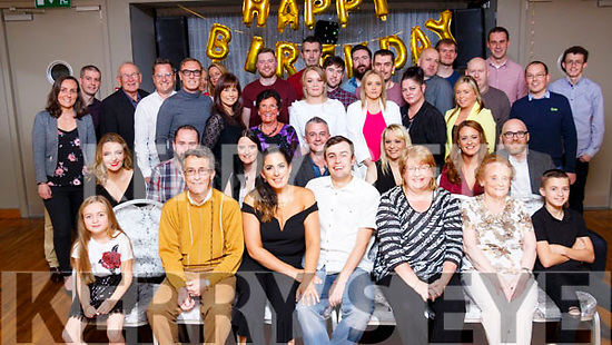Gary Murphy seated front centre enjoying his BIG 30 birthday celebration with his family and friends at the Ballyroe Heights hotel on Friday ladt