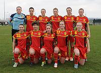 U17 : Belgian Red Flames - Nigeria <br /> <br /> Team van Belgi&euml;<br /> <br /> foto Dirk Vuylsteke / Nikonpro.be